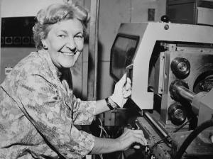 Women worker at a machine