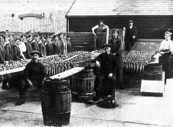 Herrings smoking Mussons c1920